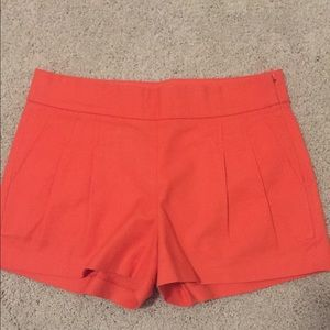 JCrew Tangerine Side Zip Shorts